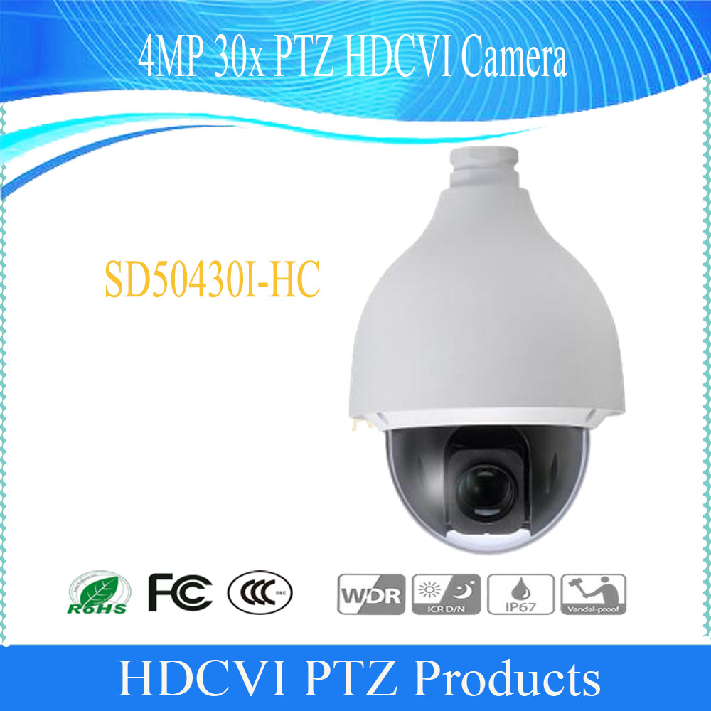 DAHUA Surveillance PTZ Camera 4MP 30x PTZ HDCVI Camera IP67 IK10 without Logo SD50430I HC