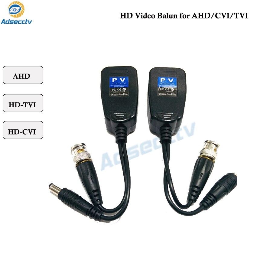 Passive Balun RJ45 CCTV Balun Video Balun Transceiver Supply Power For HDCVI/HDTVI/AHD Analog High Definition Camera
