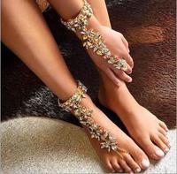 toe chain anklet boho anklets for women foot jewelry enkelbandje barefoot sandal ankle bracelet chaine de cheville