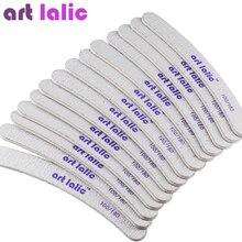 Artlalic 50Pcs/Set Professional Nail Files Buffer Buffing Slim Crescent 100/180 Grit Sandpaper Double Side Nail Tools