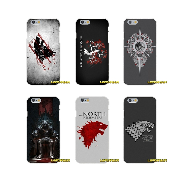 60dabc437 Accessories Phone Cases Covers The North Remembers game of throne For iPhone  X 4 4S 5 5S 5C SE 6 6S 7 8 Plus