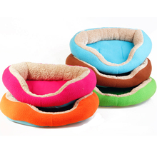 Colour Round Shape Dog House Cat Bed Sofa Pet Products Warm Soft Dog Kennel Breathable Bottom Pets Sleeping Bag Thick Fabric