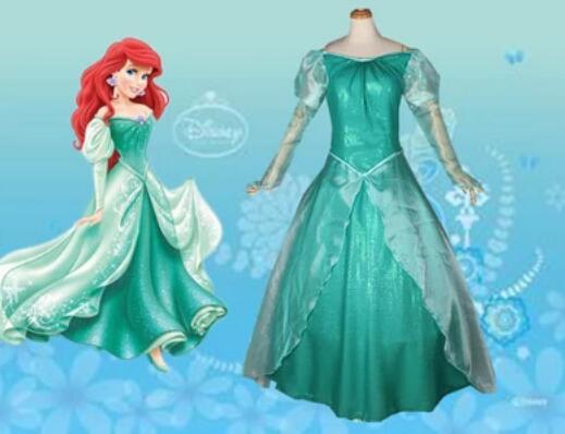 Fantaisie Halloween jeu de rôle petite princesse Ariel cosplay robe femmes adulte Ariel sirène Costume sur mesure
