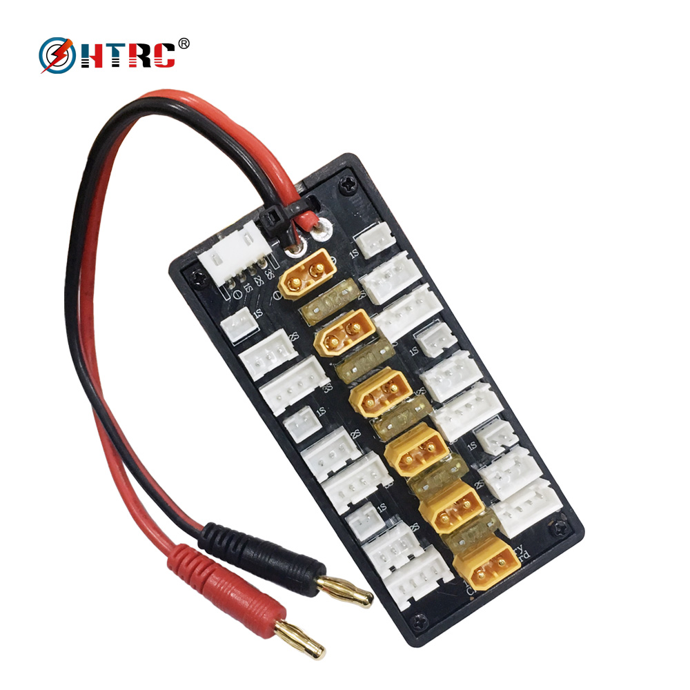HTRC XT30 JST Plug Parallel Charging Adapter Board balance charger accessory for 1s 2s 3s lipo battery with XT30 Connector