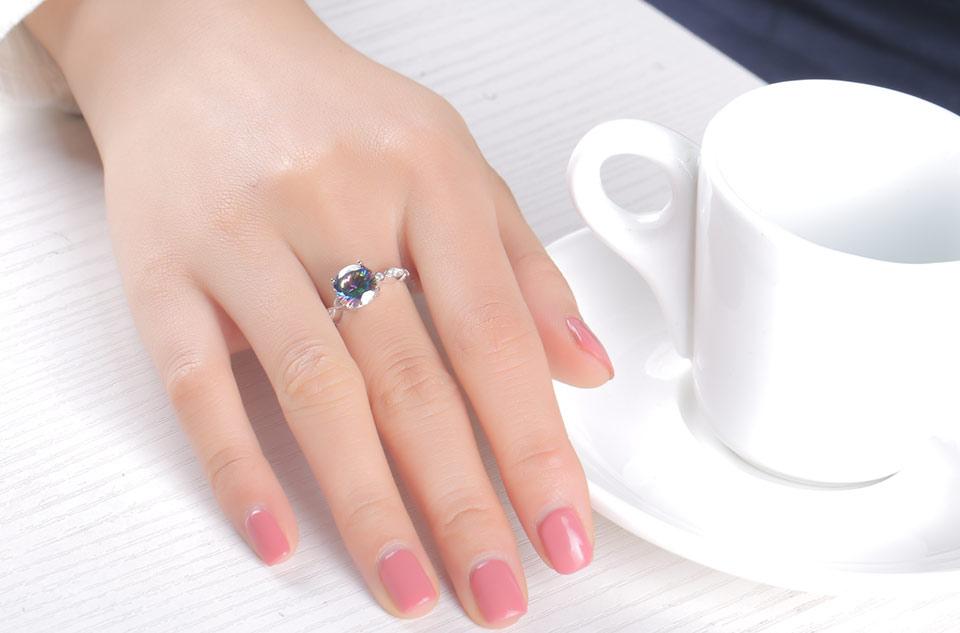 HTB1980ma9CWBuNjy0Fhq6z6EVXa3 UMCHO Genuine Rainbow Fire Mystic Topaz Rings for Women Genuine 925 Sterling Silver Trendy for Women Romantic Gift Fine Jewelry
