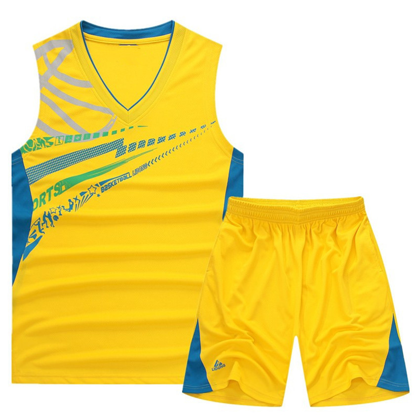 2015 New Summer Style Basketball Sport Suit Men Hoodies Sleeveless
