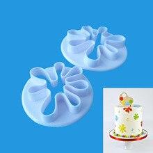 2pcs Small Palm Shaped Plastic Flip Sugar Fondant Stamp Cut Biscuit Cake Decoration Baking Mold P068 инструмент jonnesway p068