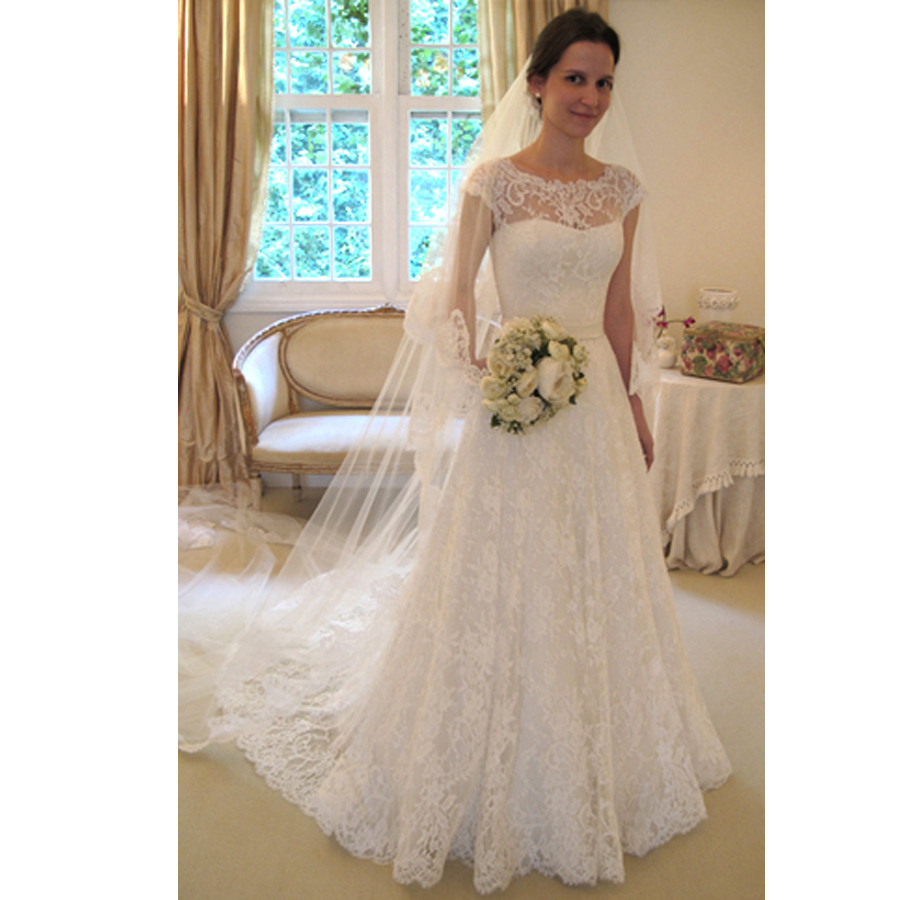 cheap 2016 new whiteivory lace bridal gown wedding dress appliques vintage plus size maxi custom size68101214161820