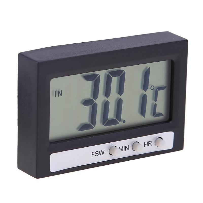 Electronic Digital LCD Car Clock High Precision Household Thermometer Indoor Outdoor Temperature Meter Display Auto Accessories