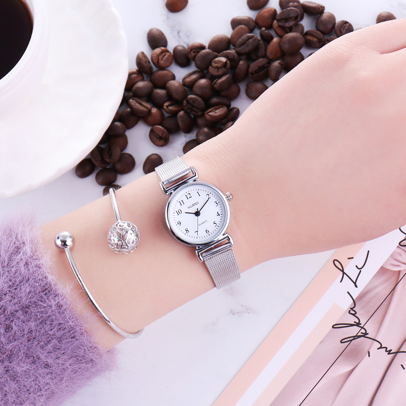Casual Quartz Stainless Steel Band Marble Strap Watch Analog Wrist Watch Woman Watch 2019 Brand Luxury Fashion Wach 2019 Silver
