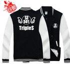 SS501 Kim Hyun Joong and Kim Hyun Joong around the Baseball Jacket clothes Sweatshirts coat Thicken Hoodies Baseball uniform