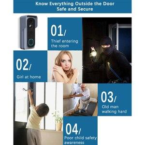 Image 3 - WiFi Akıllı Video Kapı Zili Kamera Ev Güvenlik Monitör Gece Görüş Video Interkom SmartLife APP Kumanda Üzerinden iOS Android Telefon