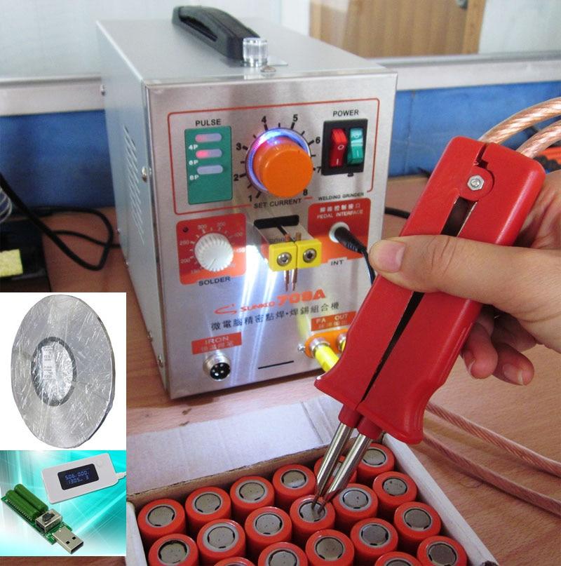 3.2kw LED Pulse Battery Spot Welder ,709a ,Spot Welding Machine for 18650 battery pack+1roll 0.1*4mm Nickel strip+1set Tester 3 2kw led pulse battery spot welder 709a spot welding machine for 18650 battery pack spot welding 1 set tester 1set s 31
