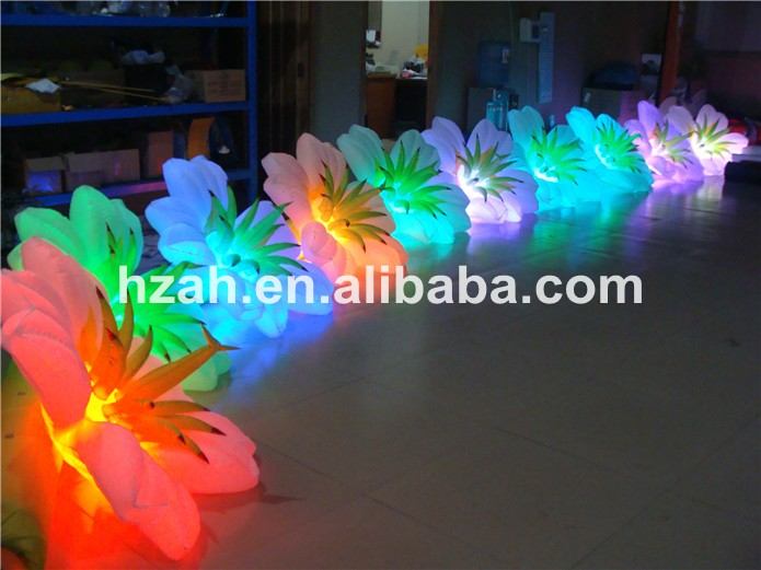 Big Sale Beautiful Inflatable Light Flower Chain for Wedding and Party ao058m 2m hot selling inflatable advertising helium balloon ball pvc helium balioon inflatable sphere sky balloon for sale