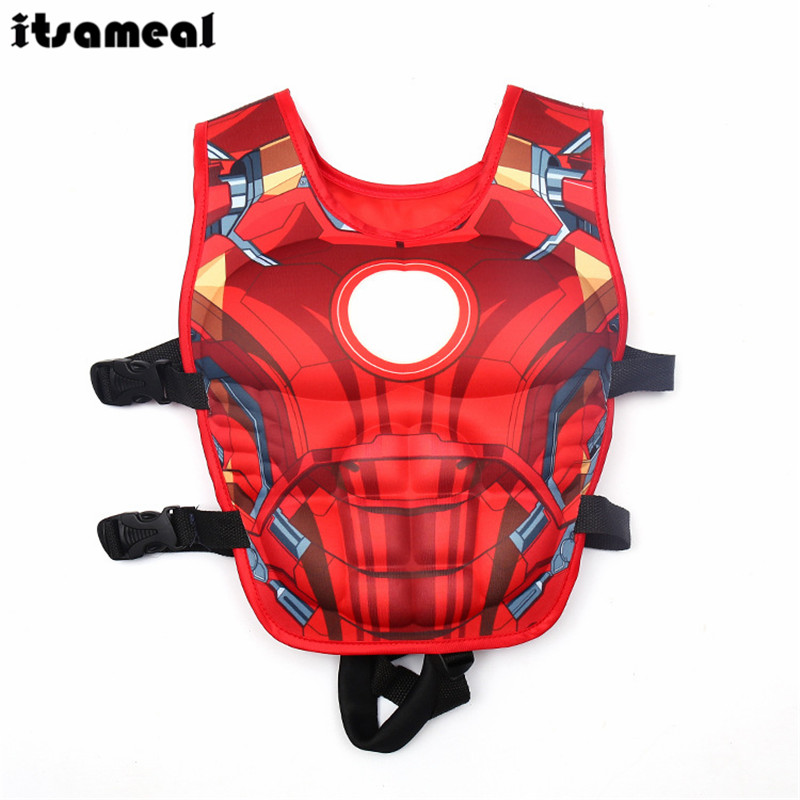 Iron Man Life Jacket Vest Swimming Circle Pool Accessories Swimsuit Floating Power Sunscreen Swimming Buoyancy
