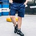 Лето Колен Плюс Размер 2XL-6XL Шорты Мода Повседневная Шорты Бегунов Брюки Хлопок Свободные Masculina Шорты