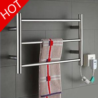 Three layer Heated Towel Warmer Stainless Steel Wall Mounted Electric Heated Towel Rail Bathroom Towel Rack Dryer YEK 8022
