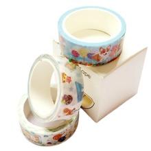 3 Pieces Watercolors Corgi Candy Masking Tapes Sakura Plant Washi Tape Stickers Journal Decorative Adhesive Tape