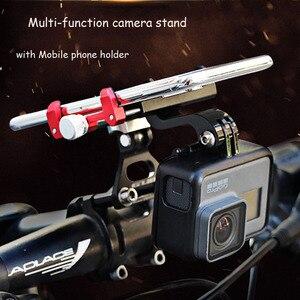 Image 2 - JINSERTA CNC אלומיניום אופני אופניים Stand הר עבור Gopro 7 סוגר מתאם עם טלפון נייד מחזיק לgopro 6/5 Xiaomi יי