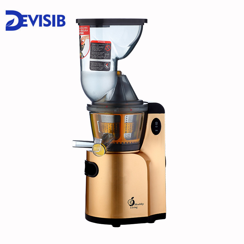 DEVISIB Juicer Slow Masticating Juicer Extractor Cold Press Juicer Machine Quiet Motor and Reverse Function