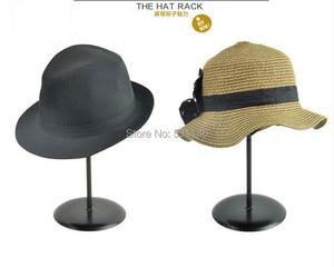 Image 2 - Black Metal Hat &wig&cap Display Stand Holder rack MJ3 7