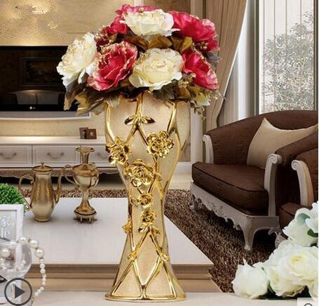 European Ceramic Flower Vase Decoration decoration floor Home Furnishing TV cabinets in the living room decoration