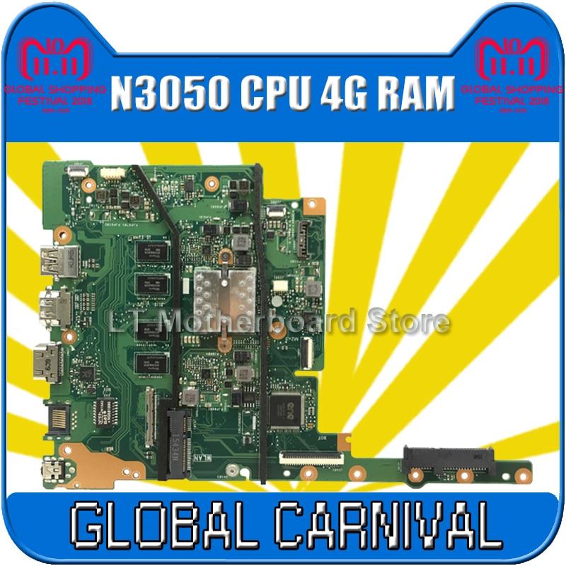 E502SA E402SA motherboard For ASUS E402SA E502SA E402S E502S E402 E502 Laptop motherboard N3050 4GB RAM E402SA mainboard test ok ноутбук asus e402sa 90nb0b62 m06100