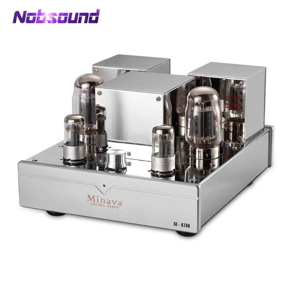 цена на KT88 Single-ended Integrated Vacuum Tube Amplifier Class A HiFi Audio High Power Amplifier 12W*2