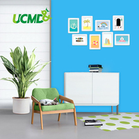 Wall Sticker Soft Dry Erase Magnetic Blue board Hold Magnets Wall Decor Room Home Decoration 120 x 100 cm x 0.6 mm