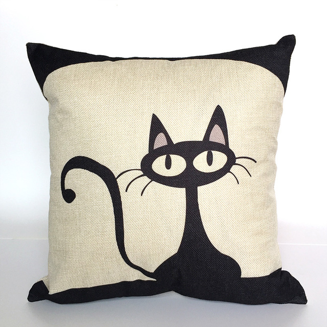Cat Cushion Pillow Case Cover Decorative Pillows Decorative Covers Cool Pillow Case Covers For Throw Pillows