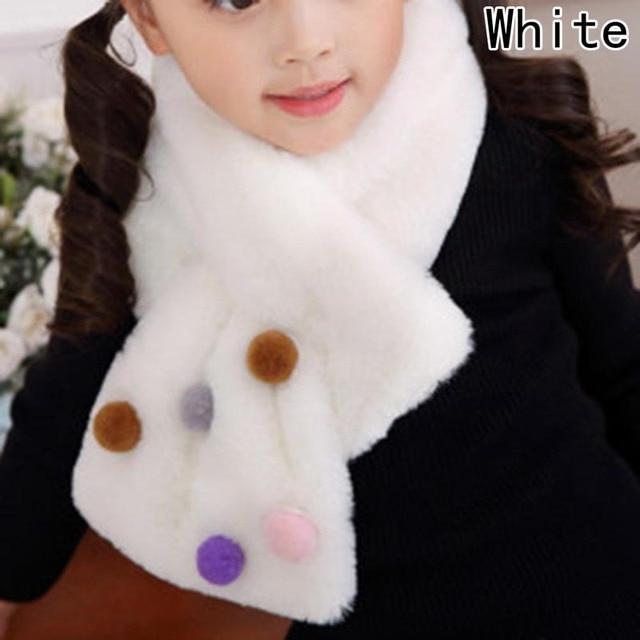 Однотонный зимний детский шарф с воротником из искусственного меха кролика, роскошные брендовые шарфы для девочек, мягкий шейный платок из искусственного меха кролика Рекс, теплая петля