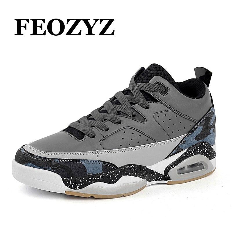 FEOZYZ Air Sole Basketball Shoes Men Breathable Dampping Mens Basketball Sneakers Basket Homme Zapatillas De Basquet Size 39-45 kneepad moxa roll moxibustion box querysystem cauterize utensils moxa