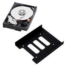 2,5 дюймов SSD HDD до 3,5 дюймов металлический монтажный адаптер Кронштейн Док-станция Держатель для жесткого диска для ПК корпус жесткого диска