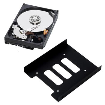 2 5 cala SSD HDD do 3 5 cala metalowy adapter do montażu uchwyt Dock uchwyt dysku twardego do komputera obudowa dysku twardego tanie i dobre opinie 2 5 Dysk do 3 5 none centechia