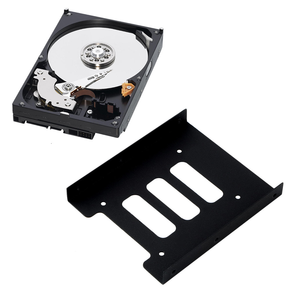 2.5 inch SSD HDD to 3.5 inch Metal Mounting Adapter Bracket Dock Hard Drive Holder For PC Hard Drive Enclosure(China)