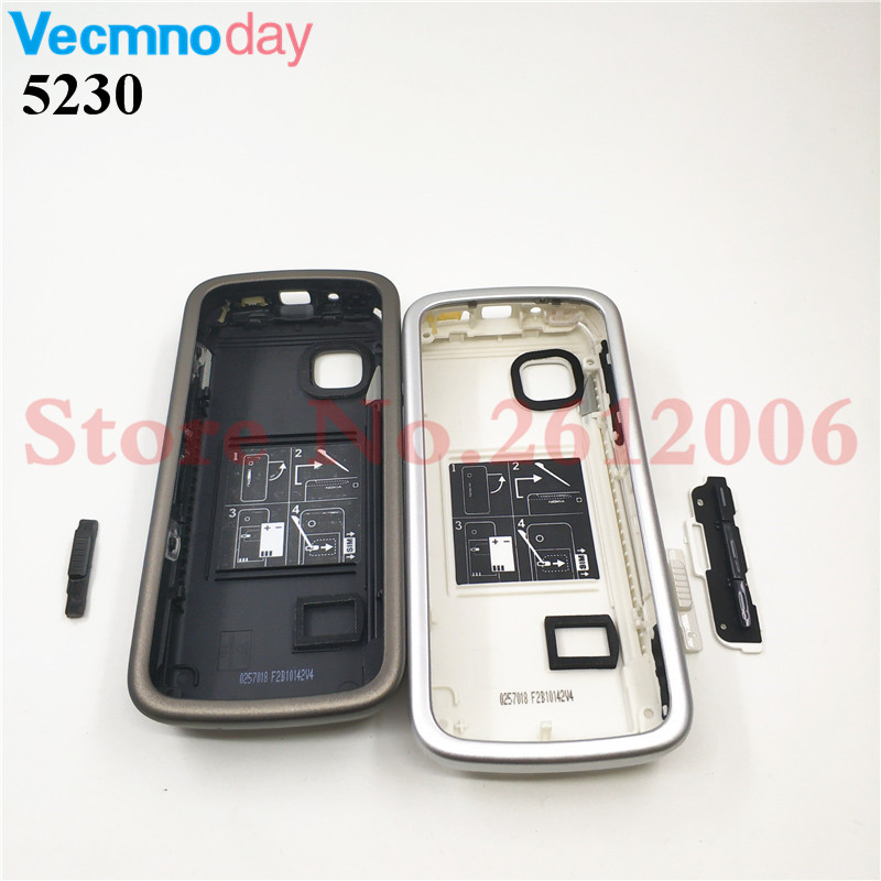 Housing <font><b>Case</b></font> For <font><b>Nokia</b></font> <font><b>5230</b></font> Battery Cover <font><b>Case</b></font> With Keyboard Mobile Phone Replacement Repair Parts image