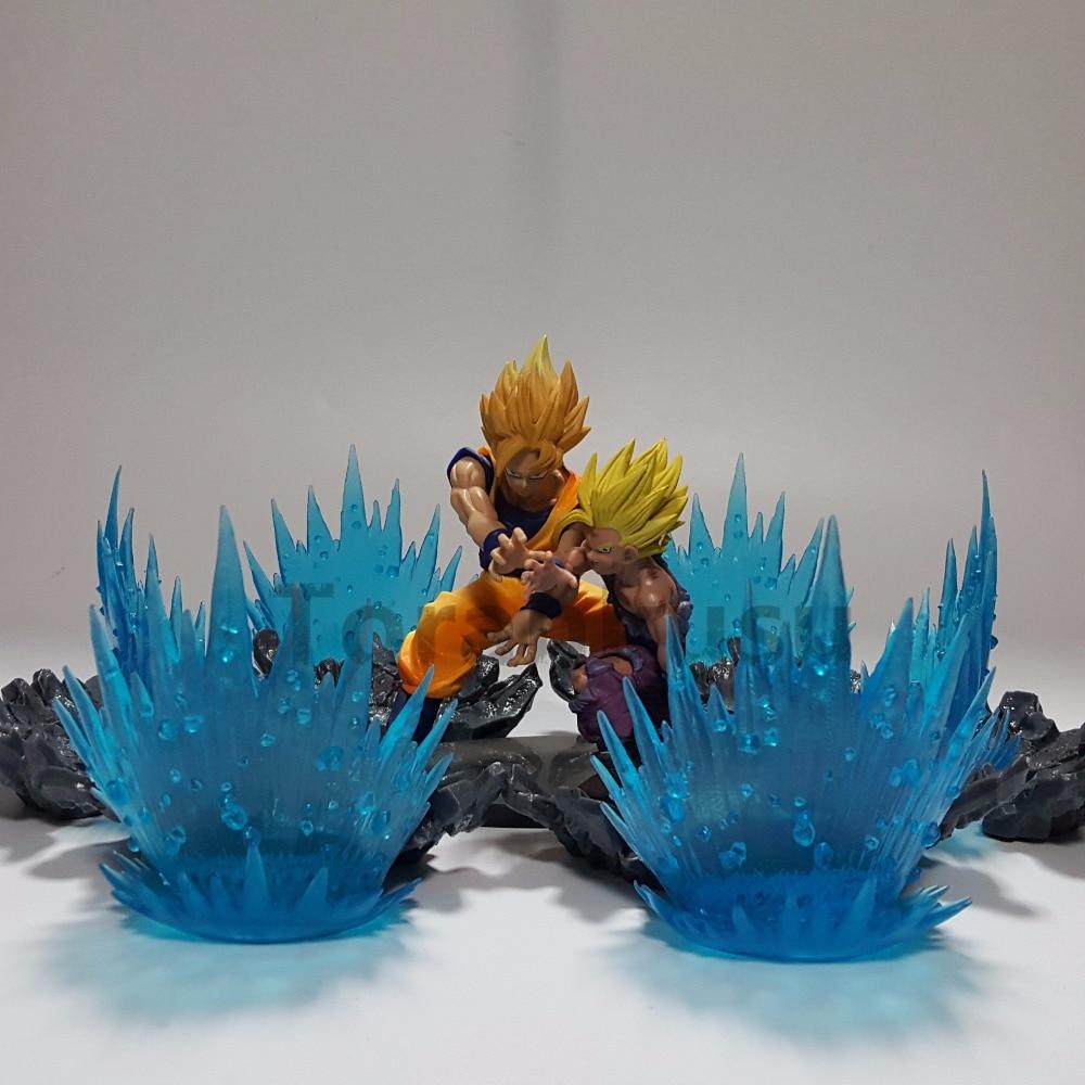 Dragon Ball Z Son Goku Gohan Super Saiyan PVC Action Figures Anime Dragon Ball Super Father Son Gohan Goku Power scene Toy