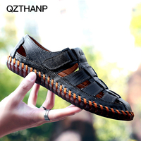 New Men Casual Breathable Leather Shoes Male Summer Krasovki Tenis Masculino Debardeur Homme Sandals for Adult Zapatillas Hombre
