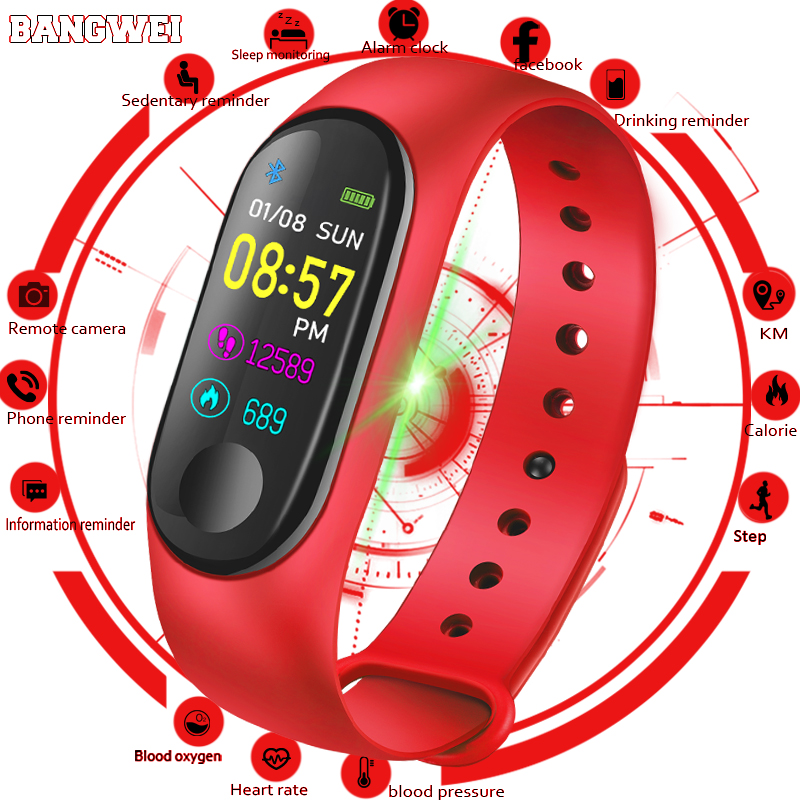 New Sport Wristband Watch Ladies Males Led Waterproof Good Wrist Band Coronary heart Fee Blood Strain Pedometer Watch For Android Ios