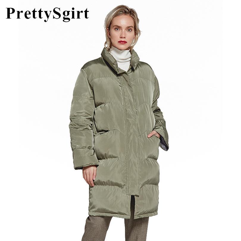 Long Winter Coat Women Winter Jacket Turtleneck Cotton Padded Thick Warm Women Casual   Parka