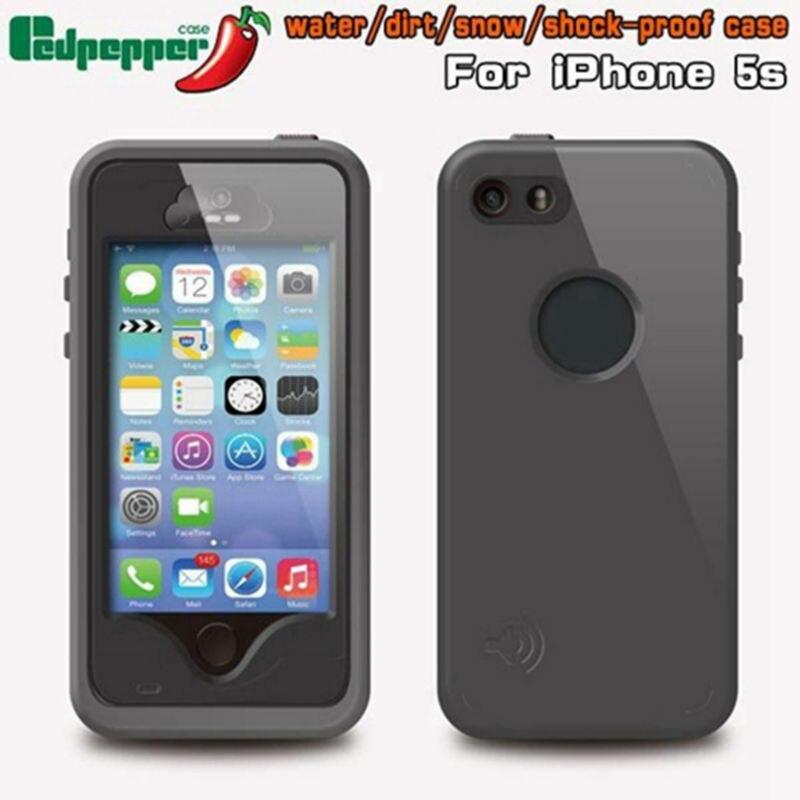 imágenes para Para el iphone 5 SE 5S Original Redpepper Funda Impermeable con identificación de la Huella Digital Para el iphone 5 SE 5S Armadura de Plástico + Cubierta de TPU