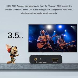 Image 4 - kebidu HDMI ARC Audio Extractor 3.5mm Stereo Fiber Coaxial Audio Adapter Converter for Amplifier Soundbar Speaker HDTV