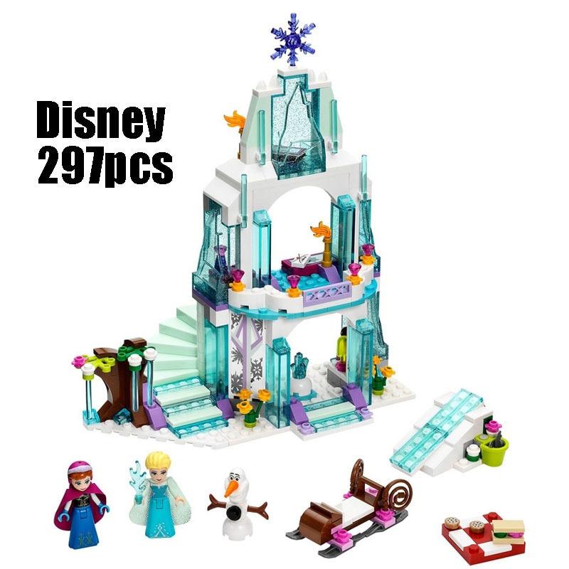 Amigos ajuste Série Princesa 41062 79168 Espumante de Elsa Castelo de Gelo Conjuntos de blocos de construção de brinquedos para as crianças Meninas Presentes
