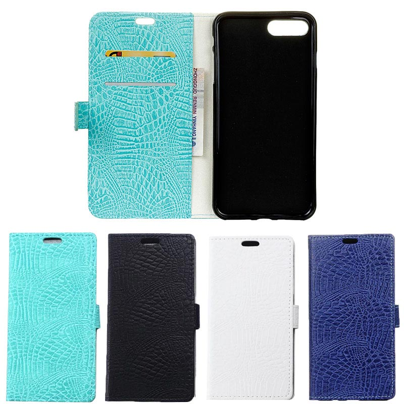 For iPhone 7 Cases Wallet Crocodile Grain PU Leather Back Cover Silicone Phone Case For iPhone 7 Plus Stand with Card Slots