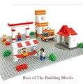 39.8*39.8 centímetros placa de base placa de base pequenas partículas blocos blocos de construção dos blocos de construção de brinquedos com lego compatível