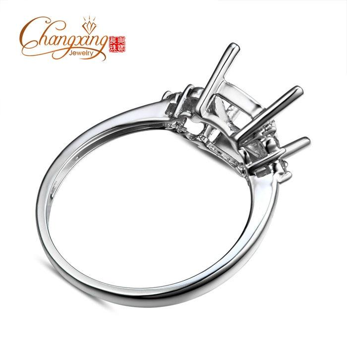 7x7mm Cushion 14k Gold Diamond Engagement Semi Mount Ring
