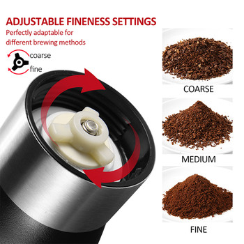 Coffee Grinder Washable Ceramic Core Handmade Mini Coffee Bean Burr Grinders Mill Kitchen Tool portable manual coffee grinder 3