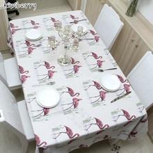 Linen Table Cloth Nordic Mantel Style Flamingo Print Multifunctional  Rectangular Table Cover Tablecloth Home Kitchen Decoration flamingo print table mat
