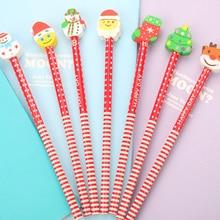 1 шт. новые рождественские карандаши с резиной напрямую от производителя студентов в кабинетные канцелярские принадлежности набор канцелярских принадлежностей для студентов