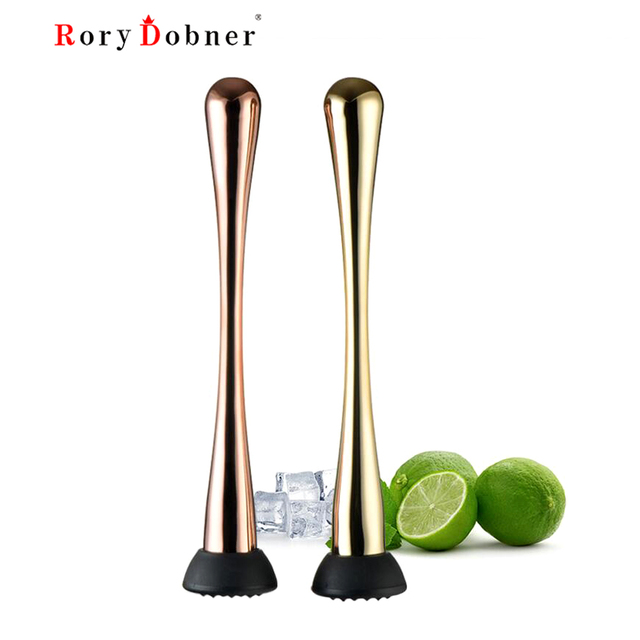 22.7cm Tamping Stick Ice Hammer Pestles Stainless Steel Crush Bar Stick Cocktail Making Tool Lemon Mint Leaf Bar Tools G80